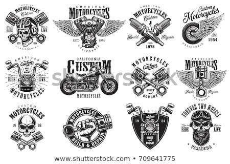 Motocicleta ilustração diversão bicicleta acelerar silhueta Foto stock © Slobelix