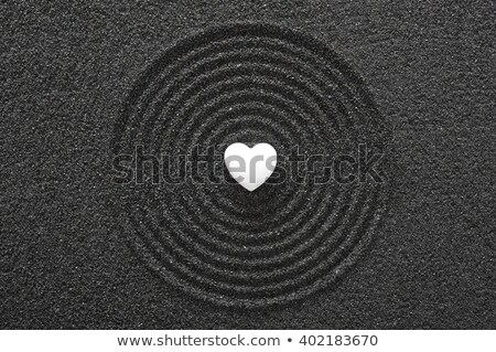 Japanese zen garden with black pebbles Stock photo © Zerbor