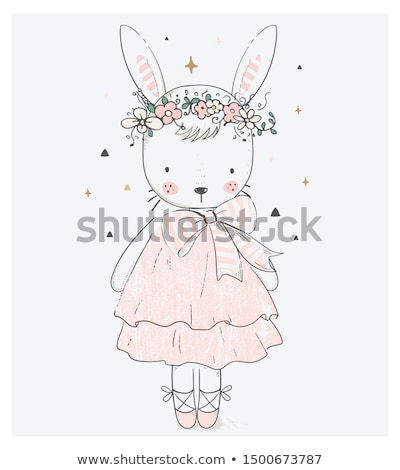 cartoon bunny girl stock photo © lindwa