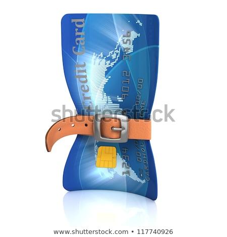 кредитных · карт · пояса · 3D · деньги · время · банка - Сток-фото © koya79