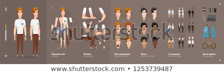 builders cartoon characters icons set stock photo © voysla