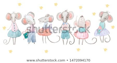 Cartoon · мыши · стороны · дизайна · Crazy · крыса - Сток-фото © tilo