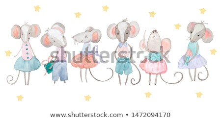 little gray mouse stock photo © tilo