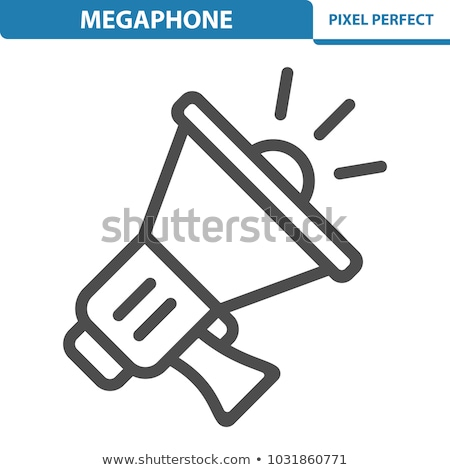 Small and Large Megaphones Stock photo © blamb