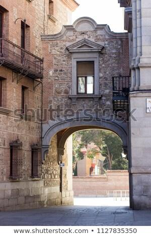 sala · España · ciudad · cielo · edificio · reloj - foto stock © billperry