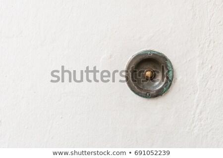 velho · enferrujado · metal · porta · assinar · perigo - foto stock © trala