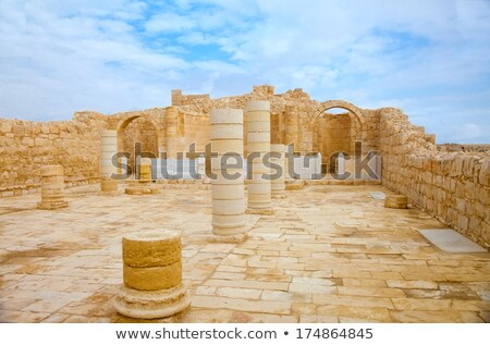 Remnants of an ancient Christian church in the Nabatean city of  Stock photo © meinzahn