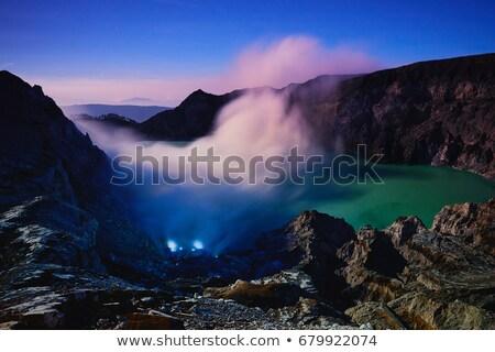 Volcanic landscape of Kawah ijen in morning dawn, Indonesia Stock photo © dinozzaver