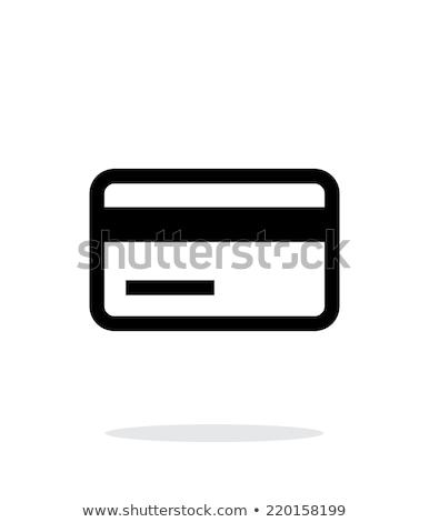 Hitelkártya mágneses szalag ikon fehér internet Stock fotó © tkacchuk