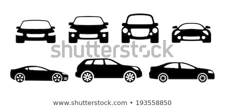 preto · ícone · isolado · branco · carro · fundo - foto stock © compuinfoto