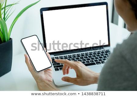 Mobiele telefoon computer laptop telefoon internet werk Stockfoto © tangducminh