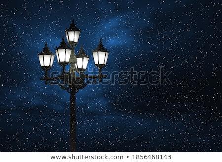 Retro · yalıtılmış · beyaz · ışık - stok fotoğraf © tanais