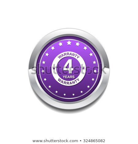 Stok fotoğraf: 4 Years Warranty Purple Vector Icon Button