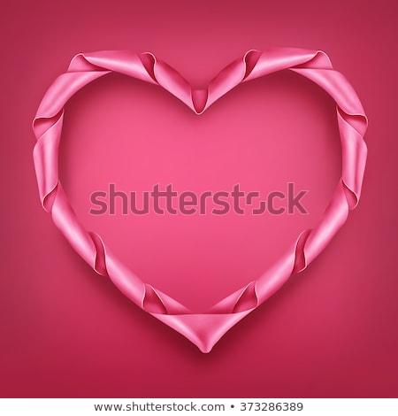 rosa · amarrar · pintado · amor · símbolo · abstrato - foto stock © anna_leni