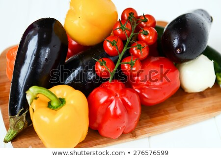 courgettes and tomatoes on balance stock photo © Antonio-S