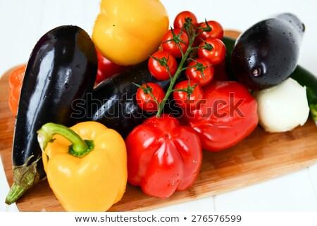 トマト · バランス · 野菜 · 孤立した · 白 - ストックフォト © Antonio-S