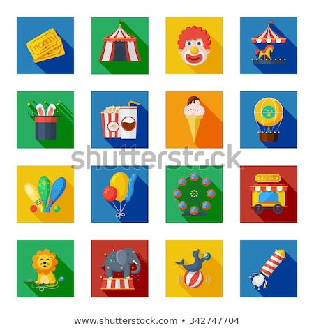 clown app icon with long shadow stock photo © anna_leni