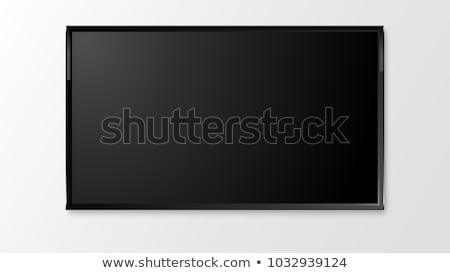 TV flat screen lcd, plasma realistic vector illustration Stock photo © Ava