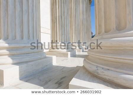 oszlopok · Egyesült · Államok · bíróság · Washington · DC · épület · fény - stock fotó © lunamarina