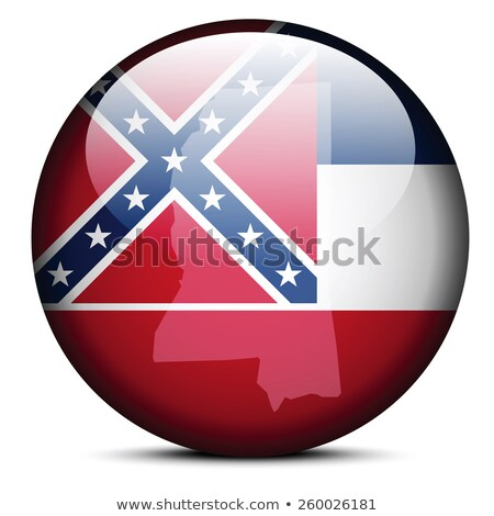 Map on flag button of USA Mississippi State Stock photo © Istanbul2009