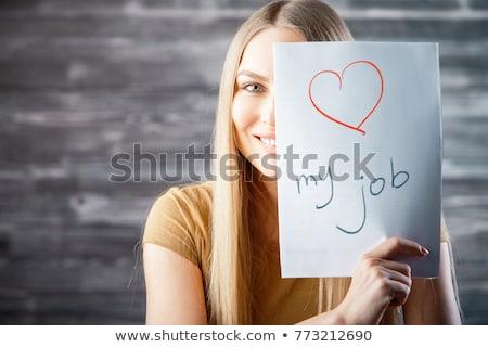 i love my job motivational business poster stock photo © stevanovicigor