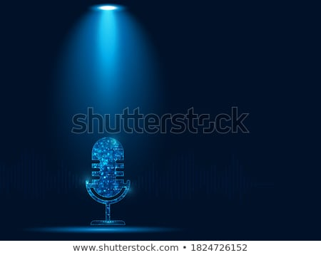 zilver · microfoon · geïsoleerd · witte · technologie - stockfoto © jonnysek