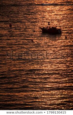 лодка · закат · сцена · рыбак · силуэта · Таиланд - Сток-фото © xuanhuongho