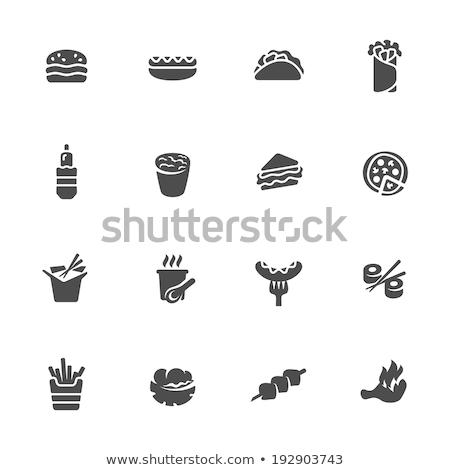 Simgeler daire gıda imzalamak pirinç Stok fotoğraf © glorcza