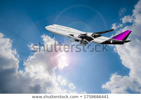 Commercial Airliner Landing at an Airport in Southeast Asia Stock photo © pzaxe