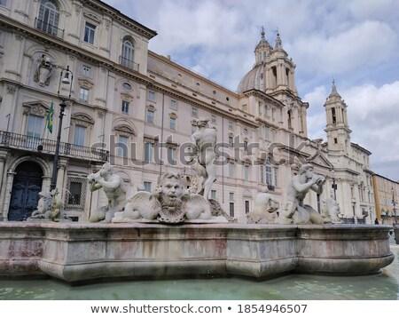 Stock photo: sculpture Marble Triton, Fontana del Moro in Piazza Navona