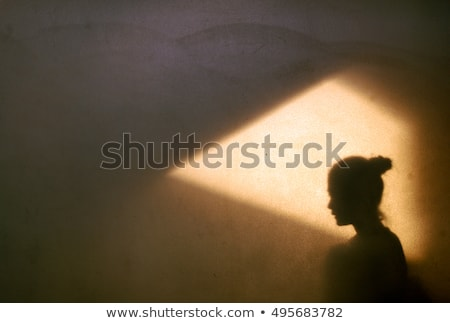 Stock photo: woman and shadow
