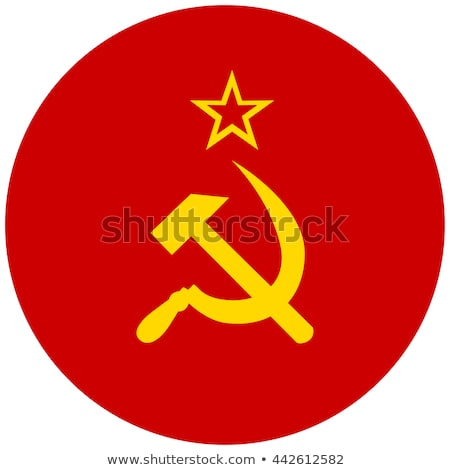 Round button with flag of ussr Stock photo © MikhailMishchenko