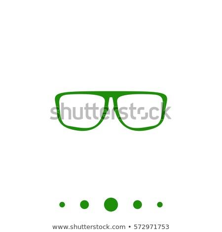 スペクタクル 緑 ベクトル アイコン デザイン 眼鏡 ストックフォト © rizwanali3d