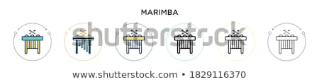 Stock photo: Vibraphone thin line icon