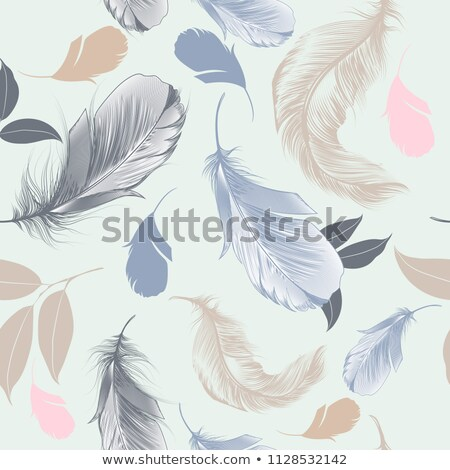 Background of feathers, leaves Tribal, boho  Stock photo © belopoppa