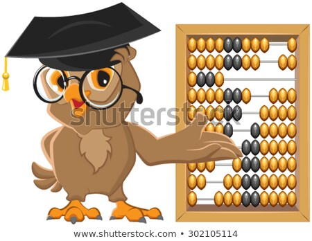 Owl teacher showing abacus Stock photo © orensila