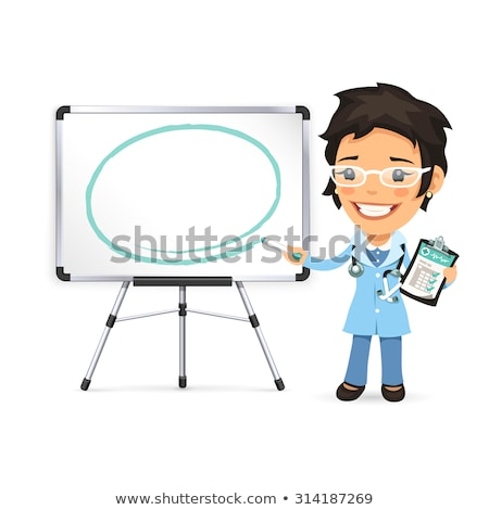 feminino · médico · ilustração · estetoscópio · isolado · menina - foto stock © voysla