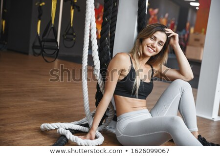 fit lean blond beauty stock photo © lithian
