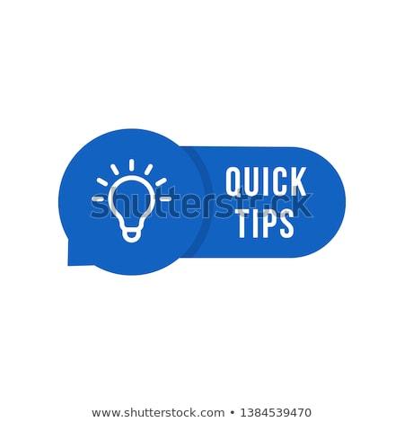 Tip word Stock photo © fuzzbones0