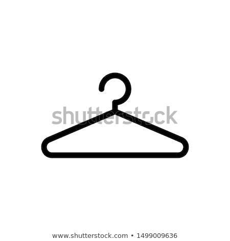 Ubrania drewna pomarańczowy przestrzeni meble sklep Zdjęcia stock © shutswis