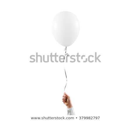 Mão colorido balões isolado branco festa Foto stock © tetkoren