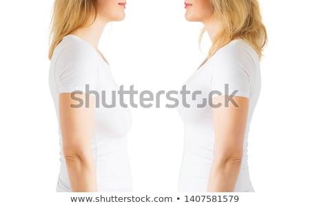 Woman breast in uplift Stock photo © ozaiachin