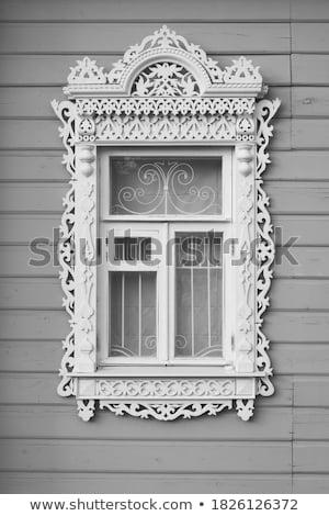 Fenster Überlieferung Geschichte Dorf Holz Stock foto © fanfo