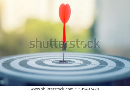 Darts board with one dart stuck in the middle Stock photo © jordanrusev