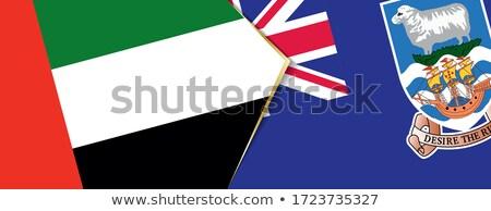 Emirados Árabes Unidos ilhas malvinas bandeiras quebra-cabeça isolado branco Foto stock © Istanbul2009