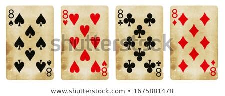 восемь играет карт красный карт игры Сток-фото © Bigalbaloo
