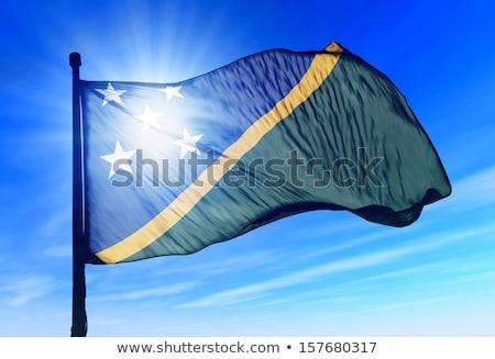 Verenigd Koninkrijk Solomon Eilanden vlaggen puzzel geïsoleerd witte Stockfoto © Istanbul2009