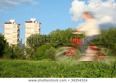 bicikli · bemozdulás · lovaglás · igazi · gyors · kezek - stock fotó © paha_l
