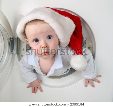 natal · bebê · máquina · de · lavar · crianças · cara · olhos - foto stock © Paha_L