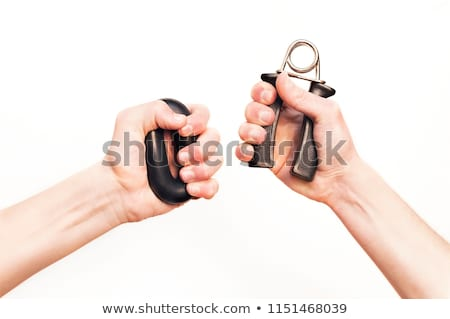 Hand grip equipment for exercise isolated Stock photo © michaklootwijk